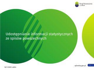 Miniaturka: Udostępnianie informacji statystycznych ze spisów powszechnych