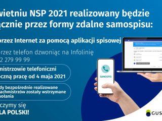 Miniaturka: W kwietniu NSP 2021 realizowany jest wyłącznie przez formy zdalne samospisu